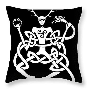 Cernunnos Bw Throw Pillow
