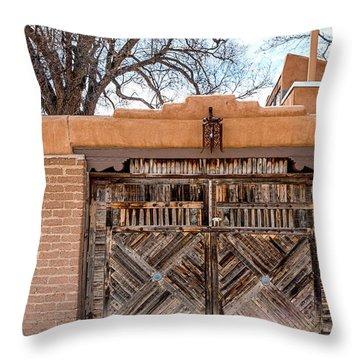 Cerrillos Gate Throw Pillow by Robert FERD Frank