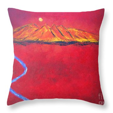 Cerro In Red Throw Pillow