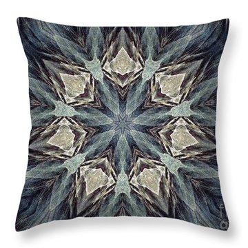 Cerulean Medusa Throw Pillow