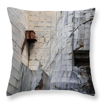 Cervaiole Quarry - Apuan Alps, Tuscany Italy Throw Pillow