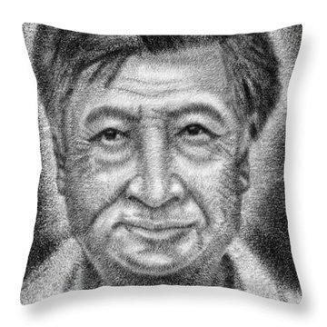 Cesar El Santo Throw Pillow by Roberto Valdes Sanchez