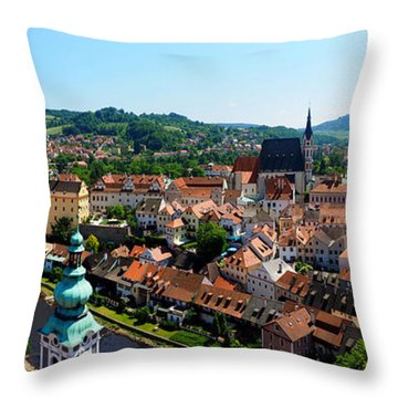 Cesky Krumlov Throw Pillow