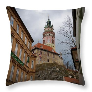 Cesky Krumlov II Throw Pillow by Louise Fahy