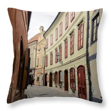 Cesky Krumlov IIi Throw Pillow by Louise Fahy