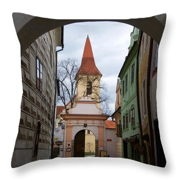 Cesky Krumlov Throw Pillow by Louise Fahy