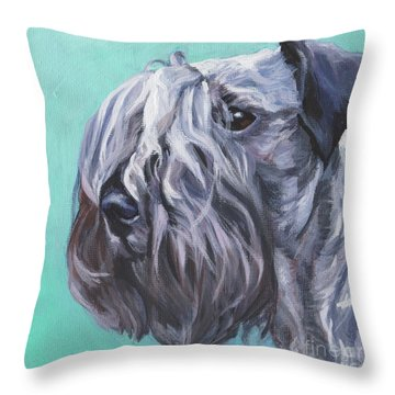 Throw Pillow featuring the painting Cesky Terrier by Lee Ann Shepard