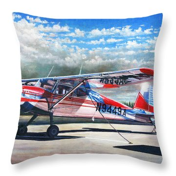 Cessna 140 Throw Pillow