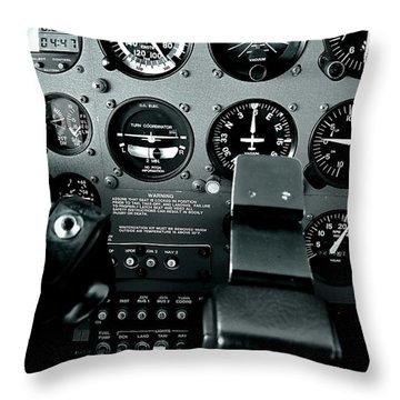 Cessna 172sp Cockpit Throw Pillow