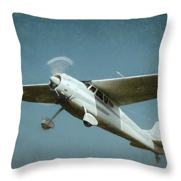 Throw Pillow featuring the photograph Cessna 195 by James Barber