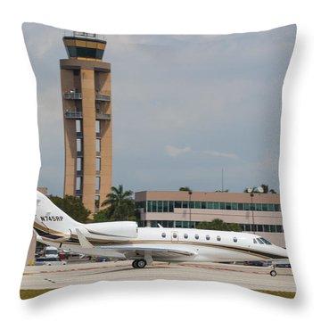 Cessna 750 Jet Throw Pillow