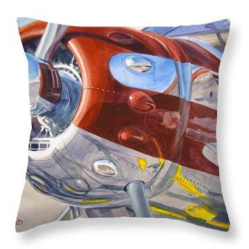 Cessna Businessliner Throw Pillow