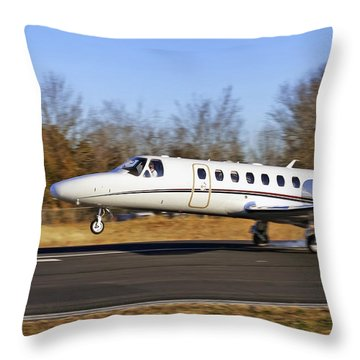 Cessna Citation Touchdown Throw Pillow by Jason Politte