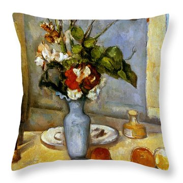 Cezanne: Blue Vase, 1885-87 Throw Pillow by Granger