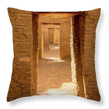 Chaco Ancient Doors   Throw Pillow