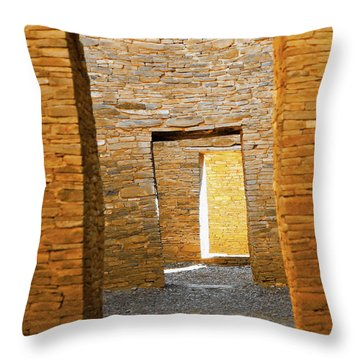 Chaco Canyon Doorways Throw Pillow
