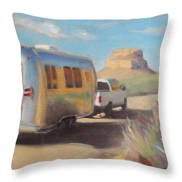 Chaco Canyon Glamping Throw Pillow