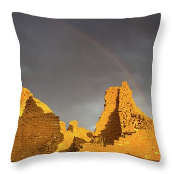 Chaco Canyon Rainbow Throw Pillow