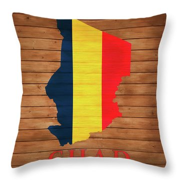 Chad Rustic Map On Wood Throw Pillow