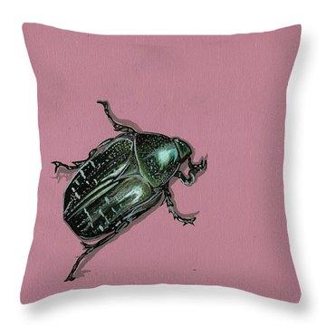 Chaf Beetle Throw Pillow