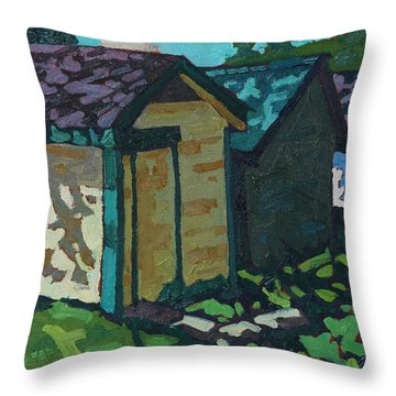 Chaffey Boat Houses Throw Pillow