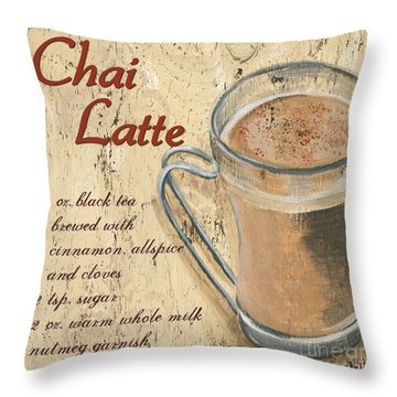 Chai Latte Throw Pillow by Debbie DeWitt