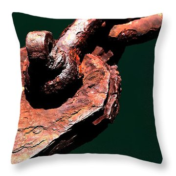 Throw Pillow featuring the photograph Chain Age II by Stephen Mitchell