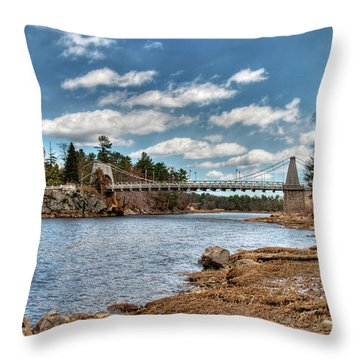 Chain Bridge On The Merrimack Throw Pillow