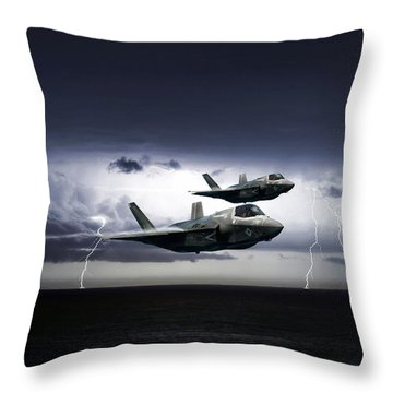 Throw Pillow featuring the digital art Chain Lightning by Peter Chilelli