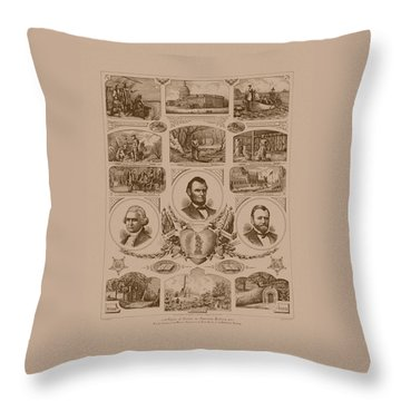 Chain Of Events In American History Throw Pillow