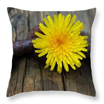 Chained Beauty Throw Pillow