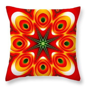 Chained Sunburst Throw Pillow