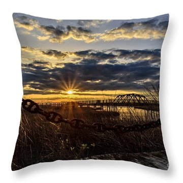 Chained View Throw Pillow