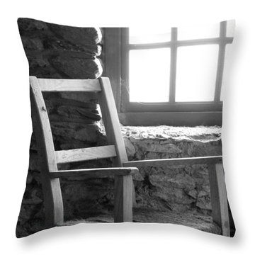 Chair By Window - Ireland Throw Pillow by Mike McGlothlen