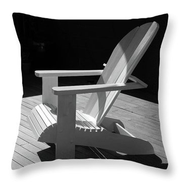 Chair In Black And White Throw Pillow