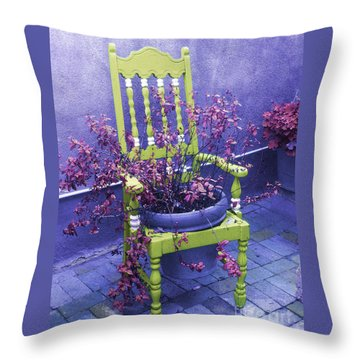 Chair In Chartreuse		 Throw Pillow by Ann Johndro-Collins