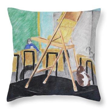 Chair Life Study Throw Pillow