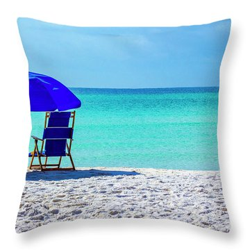Beach Chair Pair Throw Pillow