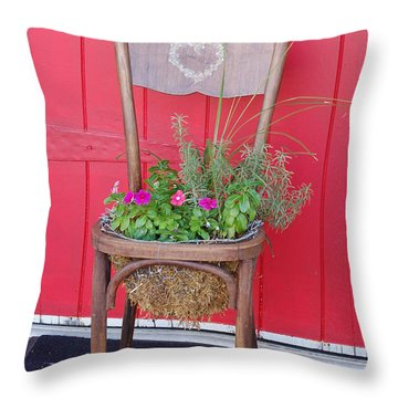 Chair Planter Throw Pillow