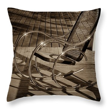 Throw Pillow featuring the photograph Chair by Samuel M Purvis III