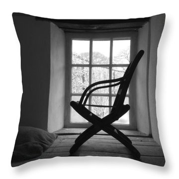 Chair Silhouette Throw Pillow by Helen Northcott