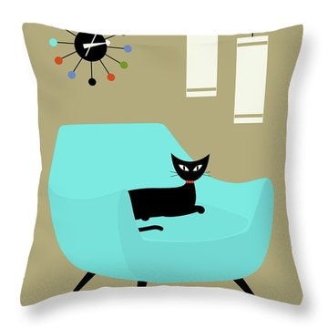 Chair With Ball Clock Throw Pillow