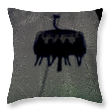 Chairlift Shadow Throw Pillow