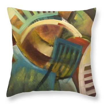 Chairs Around The Table Throw Pillow by Tim Nyberg