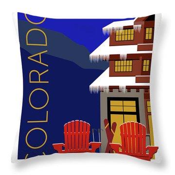 Colorado Chairs Throw Pillow