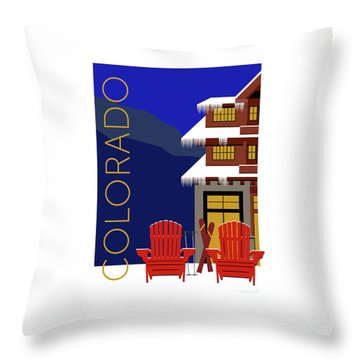 Colorado Chairs Throw Pillow