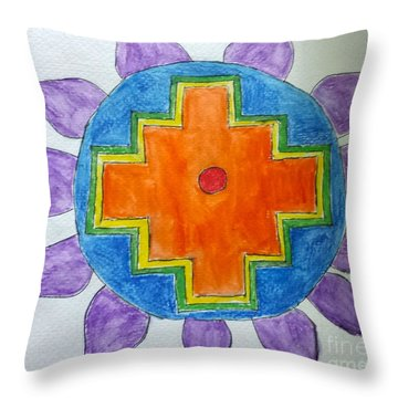 Chakana Inka Cross Throw Pillow