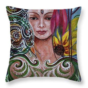 Chakra Mandla Throw Pillow