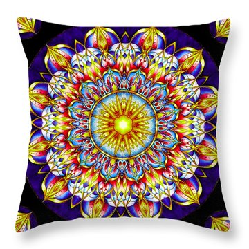 Chakra Zendala Throw Pillow