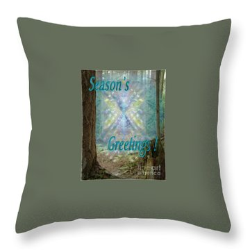 Chalice-tree In The Forest V2 Holiday Card Throw Pillow by Christopher Pringer